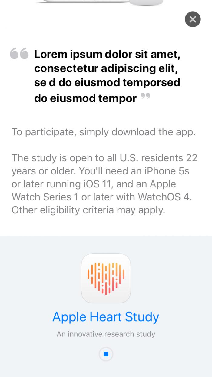 apple mock text