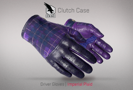 Clutch case Driver Gloves Imperial plaid