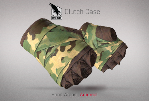 Clutch case Hand Wraps Arboreal