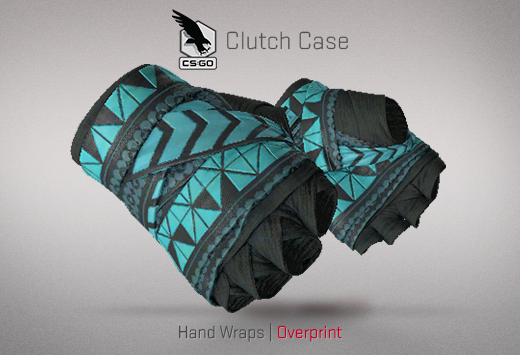 Clutch case Hand Wraps Overprint