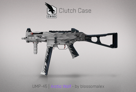Clutch case UMP-45 Artic Wolf