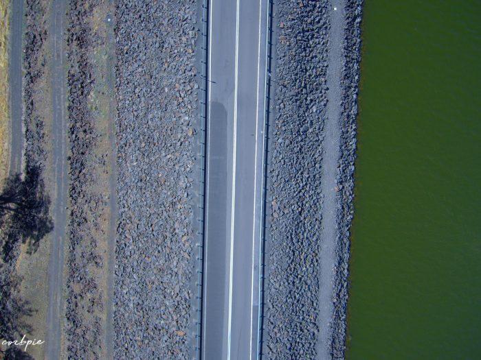 Lake Eppalock dam wall road