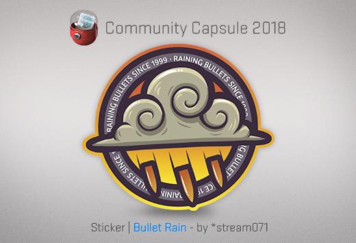 Sticker Bullet Rain