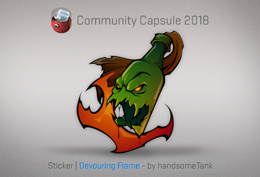 Sticker Devouring Flame