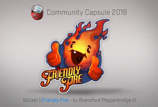 Sticker Friendly Fire