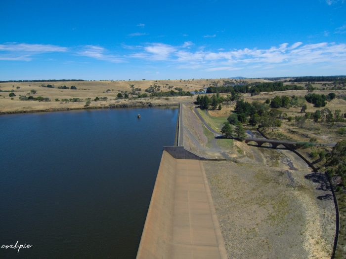 Upper Coliban dam wall and spillway