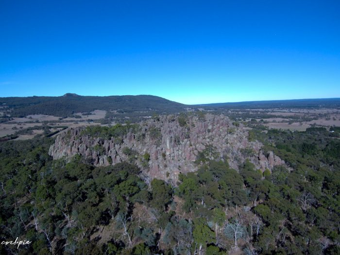 Hanging rock drone