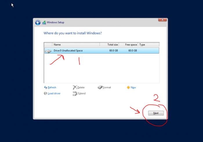 Server 2016 vnc drive select