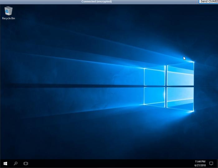 Server 2016 vnc install success