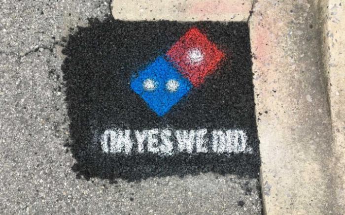 dominos pothole