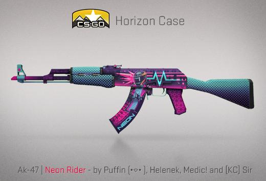 CSGO Horizon case neon rider