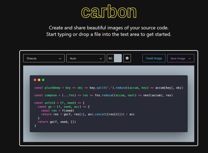carbon now sh