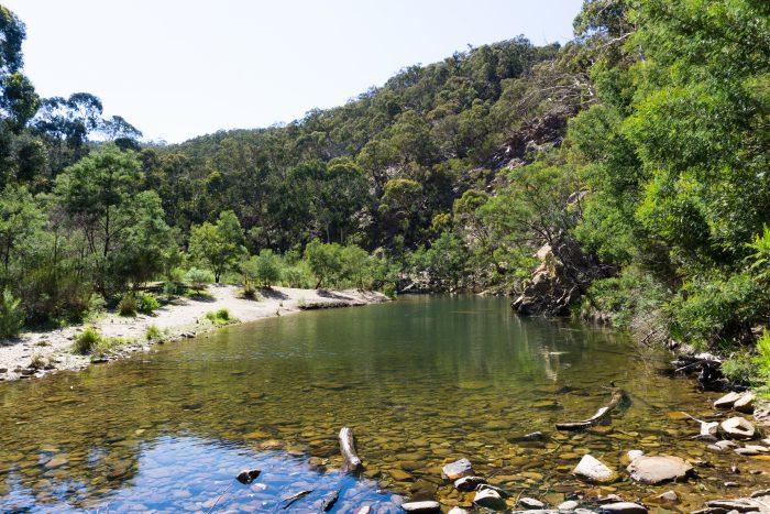 Grahams dam Lerderderg River 1