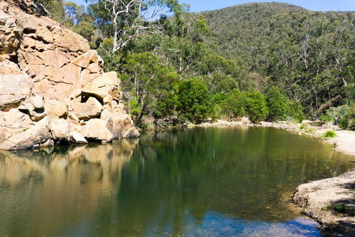 Grahams dam Lerderderg River 6