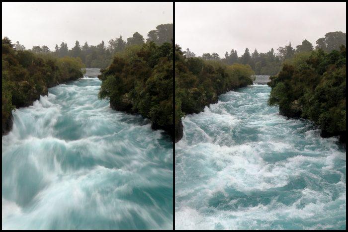 Taupo Huka Falls shutter speed