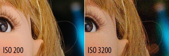 camera ISO comparison