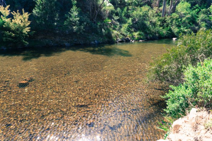 clear Lerderderg River water