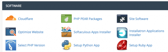 cpanel php version select