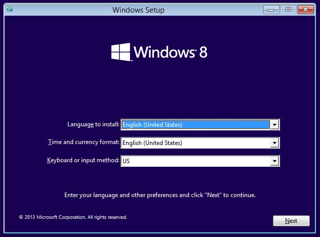 Windows 8.1 Vultr ISO install 1