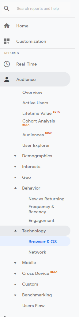 google analytics view users web browsers 1