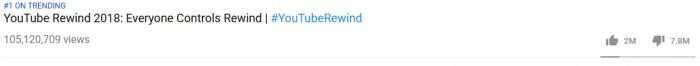 youtube rewind dislikes 2018