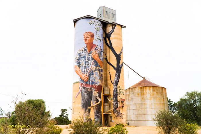 Patchewollock silo art silo trail 2019