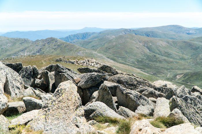 Vew from top of Mt Kosciuszko Summer 2019