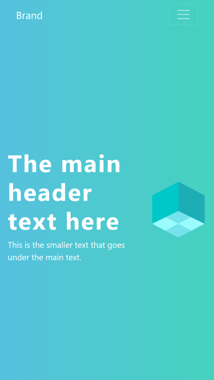Modern Bootstrap design mobile view